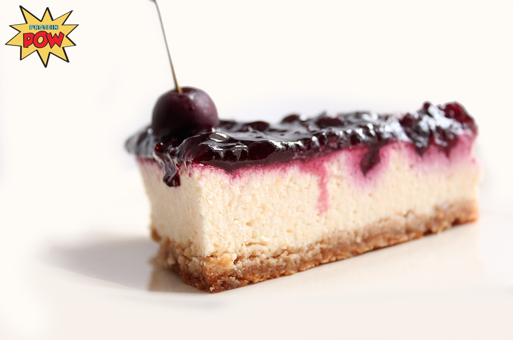 Cherry Protein Cheesecake